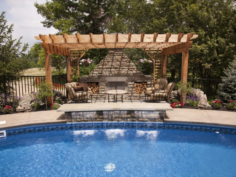 pool with pergola